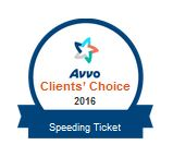 avvo speeding ticket client choice award
