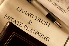 Living Trust and Estate Planning on Desk