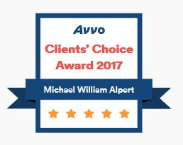 Michael W Alpert Avvo Clients' Choice Award 2017