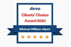 AVVO Client Choice Award 2021 - Michael W. Alpert