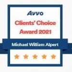 AVVO Client Choice Award 2021 - Michael W. Alpert